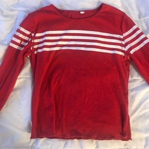 Red Shirt with stripes from Garage